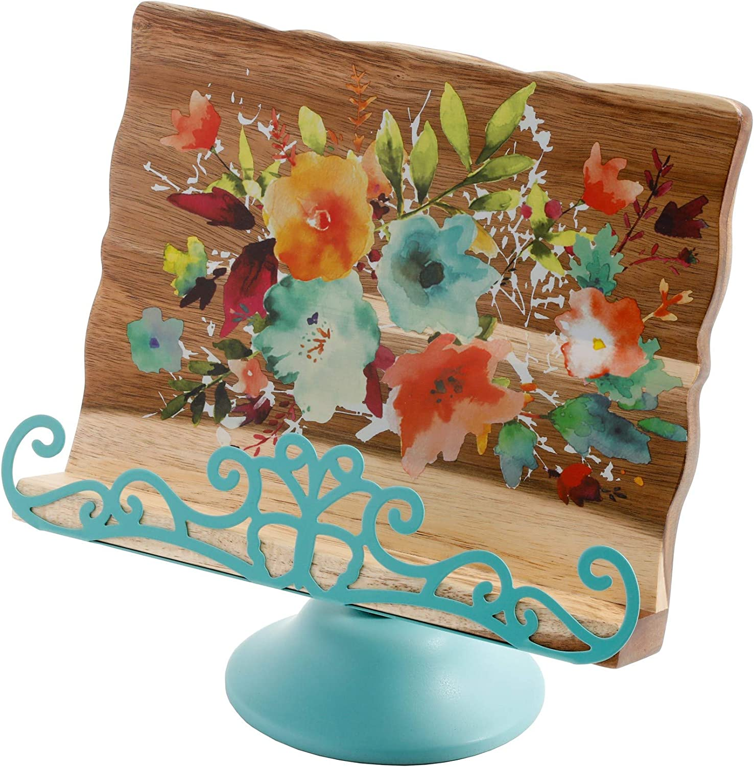 The Pioneer Woman Blossom Jubilee 6.2-Inch Recipe Box With Knob Rustic Floral