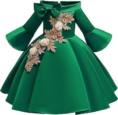 Trumpet Sleeves Flower Girls Dress