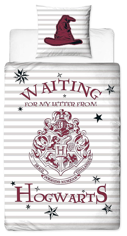 Character World Parure de lit r/éversible Harry Potter 100/% Coton Motif Coquelicots 135 x 200 cm 80 x 80 cm