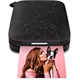 """HP Sprocket Portable 2x3"""" Instant Photo Printer (Black Noir) Print Pictures on Zink Sticky-Backed Paper from your iOS…"""