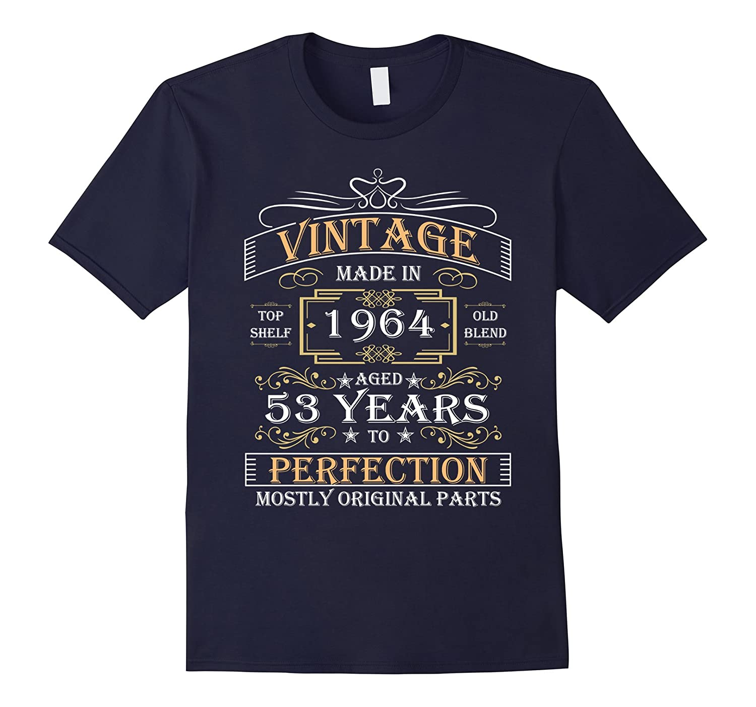 Vintage Birthday Gift Made In 1964 53 Years Perfection Shirt-TD