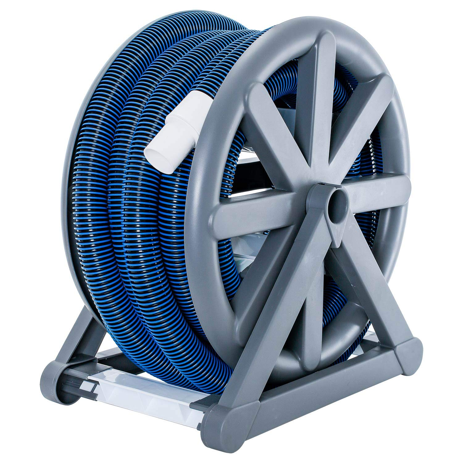U.S. Pool Supply 1-1/2'' x 36 Foot Spiral Wound Vacuum Hose with Standard Cuff & Hose Reel by U.S. Pool Supply