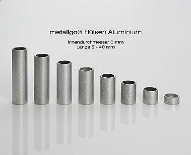 Metallgo® Casquillos de acero inoxidable M8 (8 mm de ...