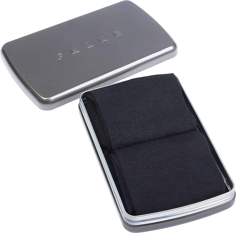 Versch 2 Paar Merinowoll-//Baumwollmischung feuchtigkeitsregulierend FALKE Herren Socken Airport 2-Pack Gift Box Multipack atmungsaktiv Gr/ö/ße 39-46 Farben warm