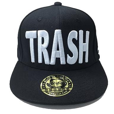 Amazon Pandahat Trash 3d Puff Embroidery Snapback Hat Clothing