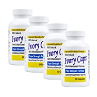 4 Pack Ivory Caps **BEST VALUE**- Maximum Potency Glutathione 1500