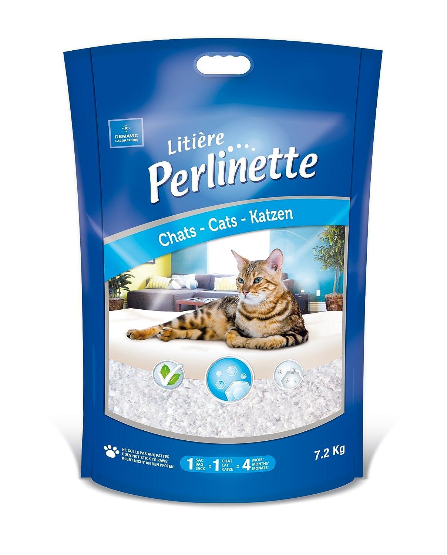 Litière Perlinette Christaux Sac de 1, 8 kg (4 litres) pour chats de tous âges. 1HY02531