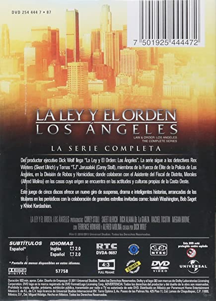 Amazon.com: La Ley y Orden Los Angeles Serie Completa en DVD: Skeet Ulrich, Corey Stoll, Dick Wolf: Movies & TV