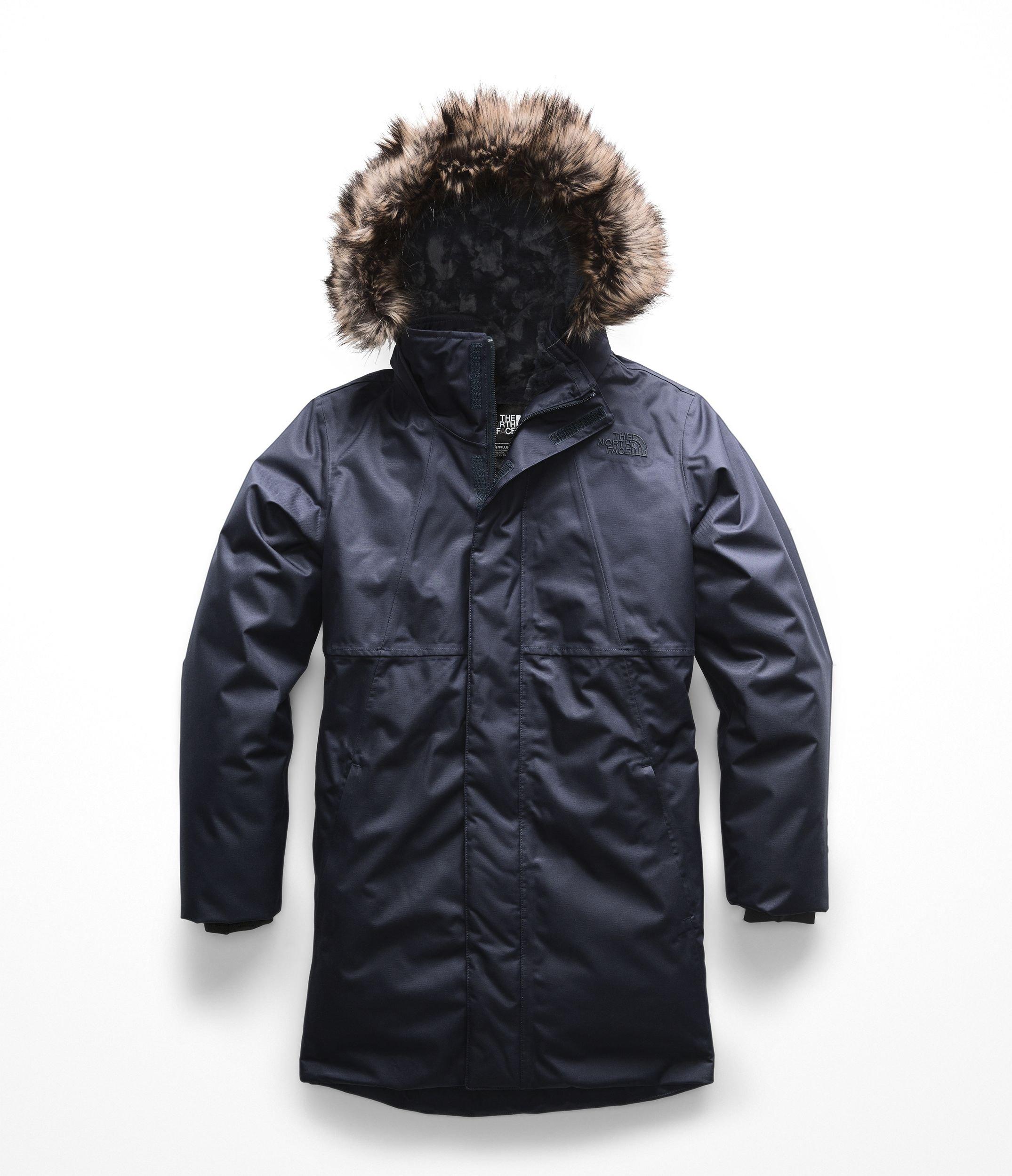 The North Face Kids Girl's Arctic Swirl Down Jacket (Little Kids/Big Kids) Urban Navy Small
