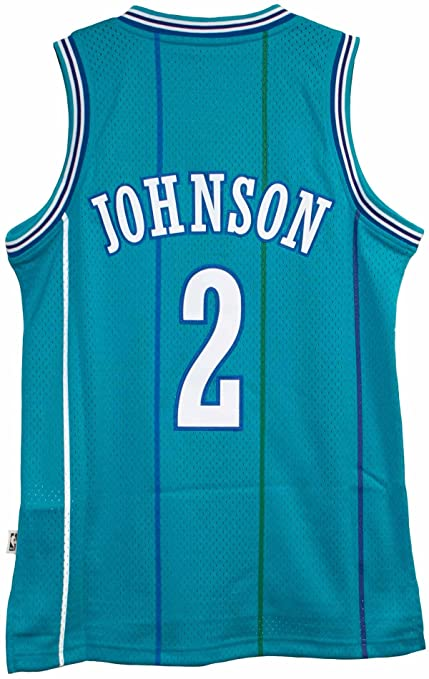 57d8e1146f29 Larry Johnson New Soulman Charlotte Hornets Adult Size Throwback Throwback  Jersey (Small)