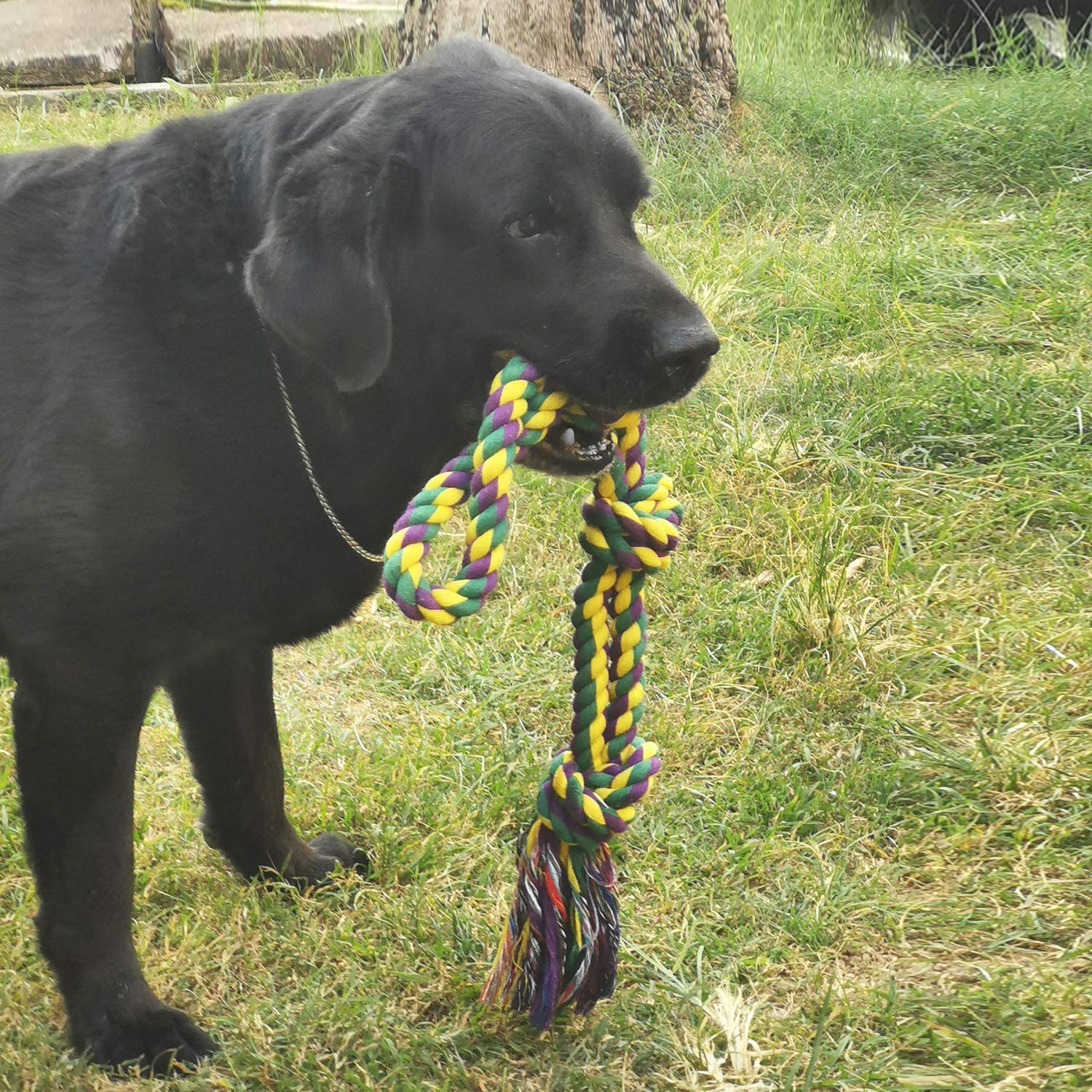 Dog Toys for Aggressive Chewers Designed for Tough Large Dogs Medium Dogs Durable Dog Rope Toy Set of 3 Pieces Size XL 30 inches 4 pounds