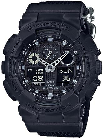 6e18e3f0096cc Amazon.com  CASIO G-SHOCK Military Black GA-100BBN-1AJF Mens Japan import   Watches