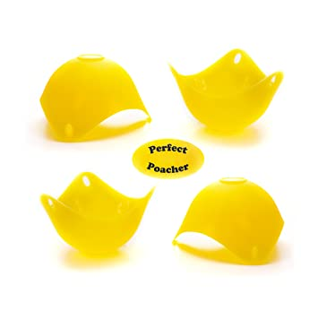 Egg Poachers pack of 4 or Jelly Moulds Yellow Kitchen Gadget