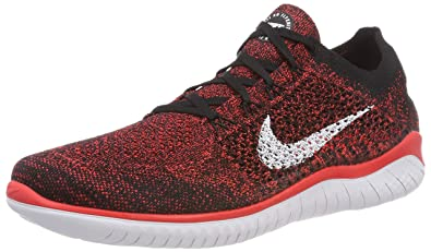 detailed look bd292 83ff8 Nike Men s s Free Rn Flyknit 2018 Competition Running Shoes, Red (Bright  Crimson White