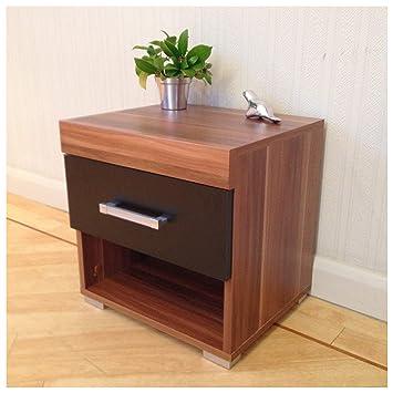 Astounding Drp Trading Black Walnut Bedside Table Cabinet With 1 Drawer Bedroom Furniture Home Interior And Landscaping Ponolsignezvosmurscom