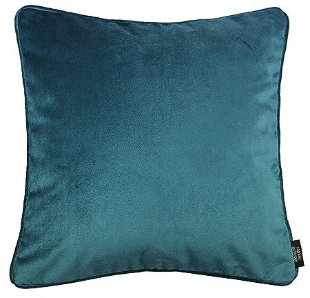 Cuscini Verde Acqua.Mcalister Textiles Cuscino Velluto Verde Acqua Artigianale Con