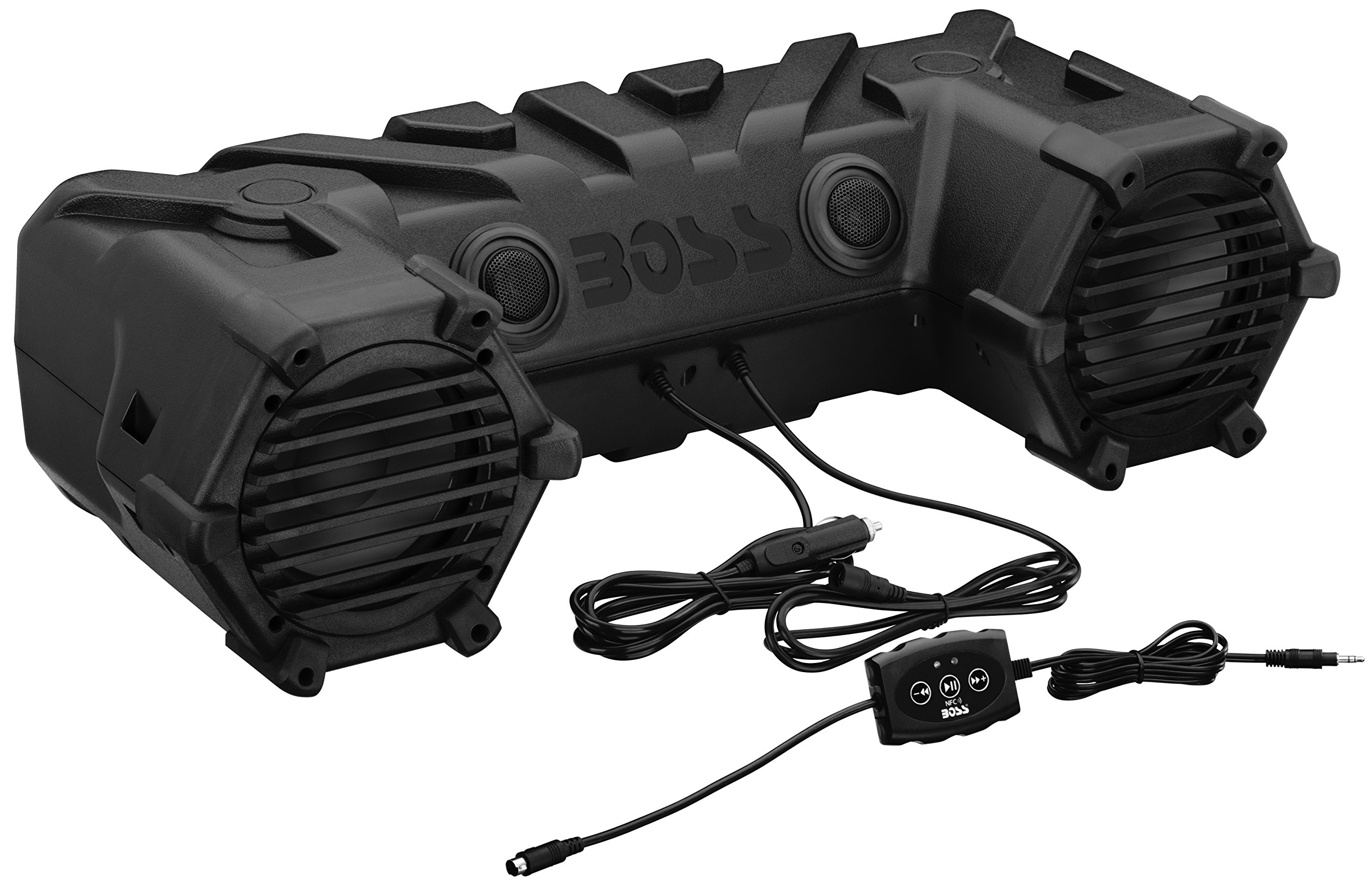 BOSS AUDIO ATV28B Powersports Plug and Play Audio System with Weather Proof 6.5 Inch Component Speakers, Built in 450 Watt Amp.