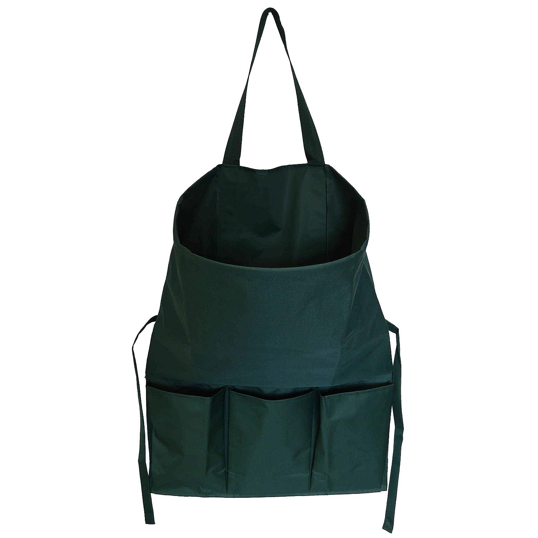 farmtex Farmers Fun giardino grembiule con raccolta sacchetto impermeabile | Verde | con pratico strumento tasche