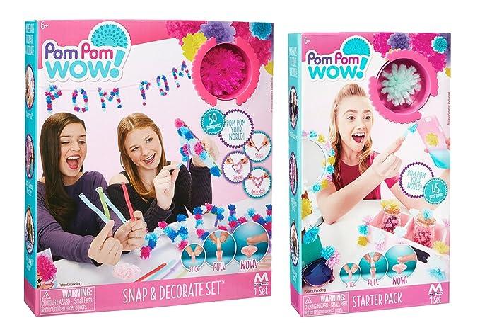 Pom Pom Wow Starter Pack and Snap & Decorate Craft Kits by Pom Pom Wow!