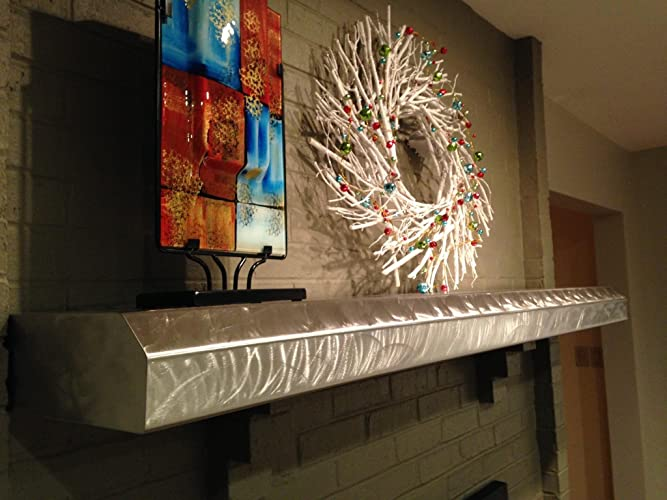 Amazon.com: Stainless Steel Fireplace Mantels / Stainless Steel ...