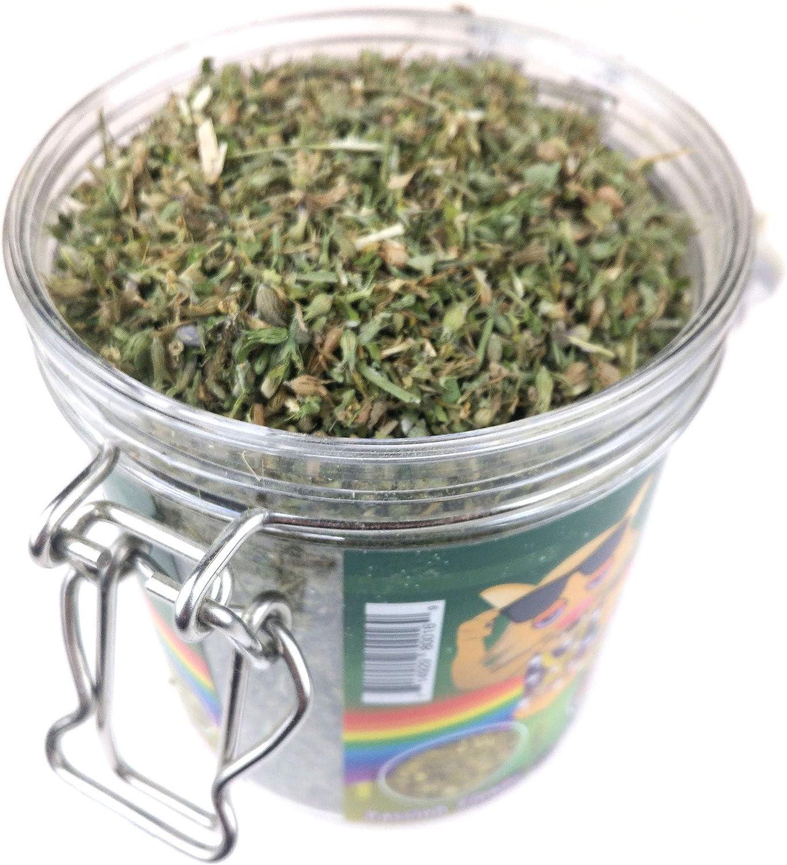 Blend of 7 Herbs Your Feline Will flip for! 2 Jars Meowijuana Catnip Pawty Mix