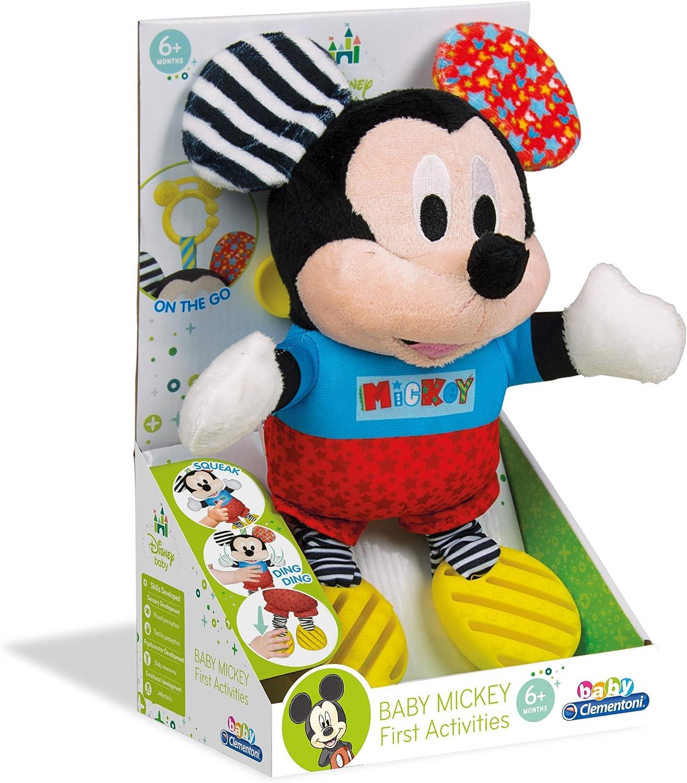 Clementoni- Disney Peluche con Sonidos Baby Mickey, Multicolor ...