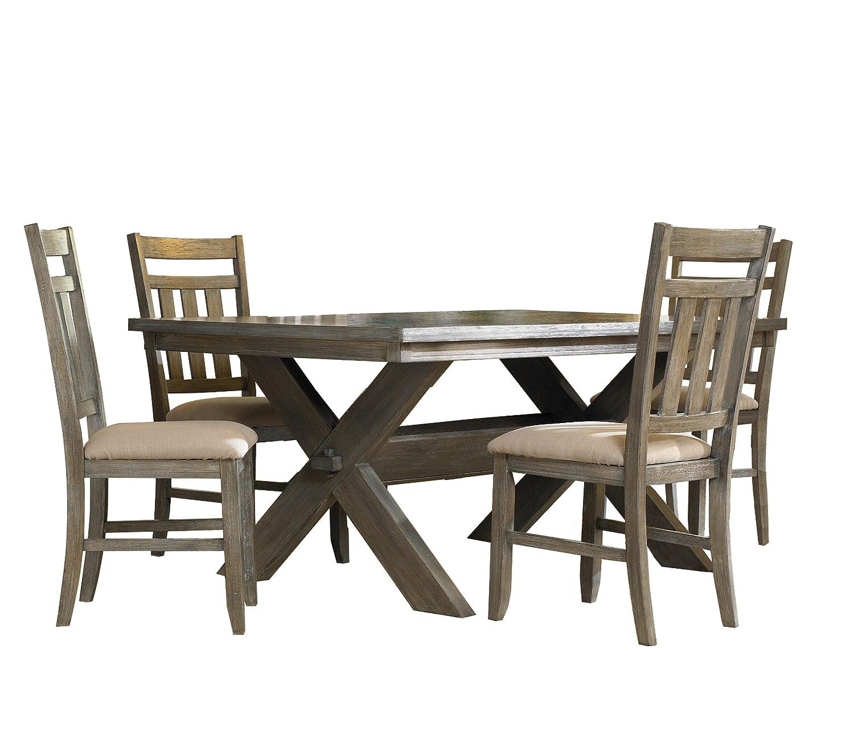 Amazoncom Powell Turino Dining Set 5 Piece