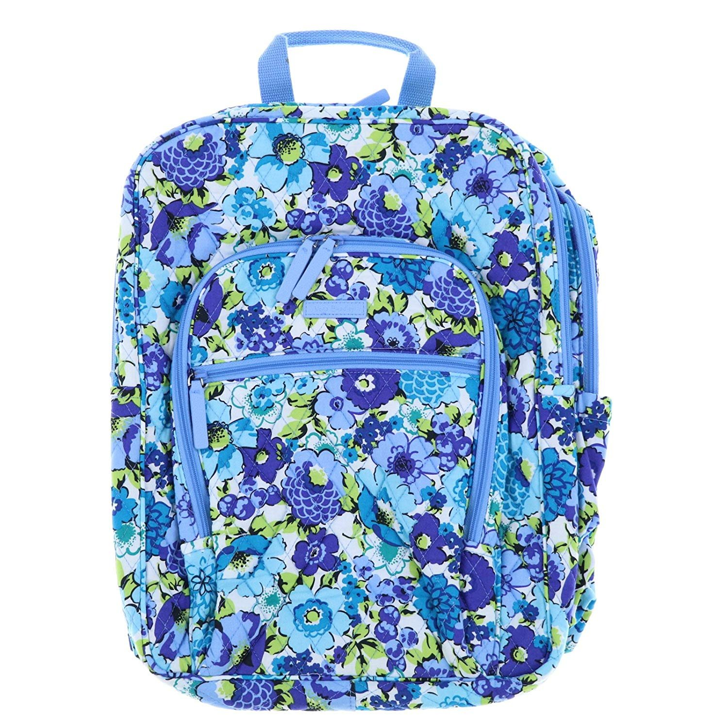 d4bc8d4feb Amazon.com  Vera Bradley Large Campus Backpack (Blueberry Blooms)   Computers   Accessories