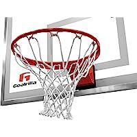 Goalrilla Heavy Weight Pro-Style Breakaway Basketball Flex Rim con Red de Nailon para Todo Tipo de Clima y Borde con Recubrimiento en Polvo y Acero Inoxidable