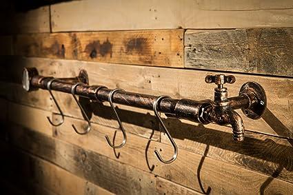 Amazoncom 2wayz Wall Mounted 6 Hooks Hanging Cast Iron Coat Rack