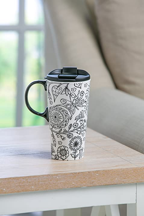 Amazon Cypress Home Just Add Color Nature In 17 Oz Boxed Ceramic Perfect Travel Coffee Mug Or Tea Cup With Lid