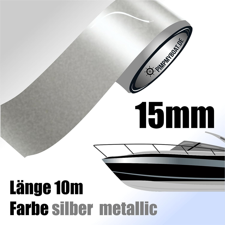 10 m f/ür Auto SILBER MATT Zierstreifen 20 mm Modellbau und mehr Boot
