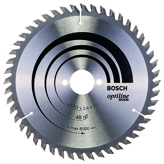 Bosch Professional GKS 190 - Sierra circular, 1400 W, disco 190 mm, en caja + Bosch 2 608 640 617 - Hoja de sierra circular Optiline Wood - 190 x 30 x ...