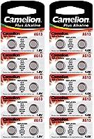 Camelion 12001013B Plus Alkaline Knopfzelle (AG13/LR44/LR1154/357, 20-er Blister)