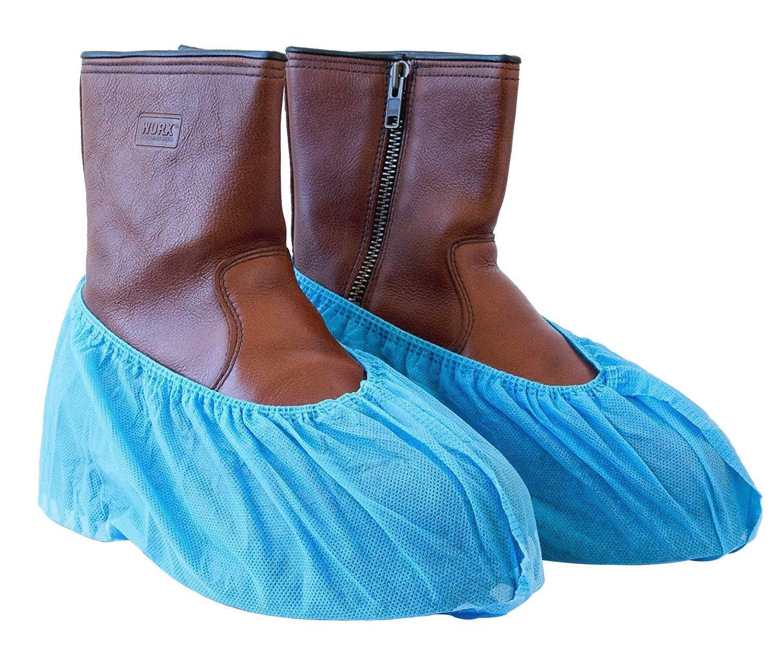 Paquet de 100 Couvre Chaussures Protection de Plancher de Tapis d/'Int/érieur Une Taille Convient rose et bleu Hygi/énique Jetable pour M/édical Lieu de Travail Construction