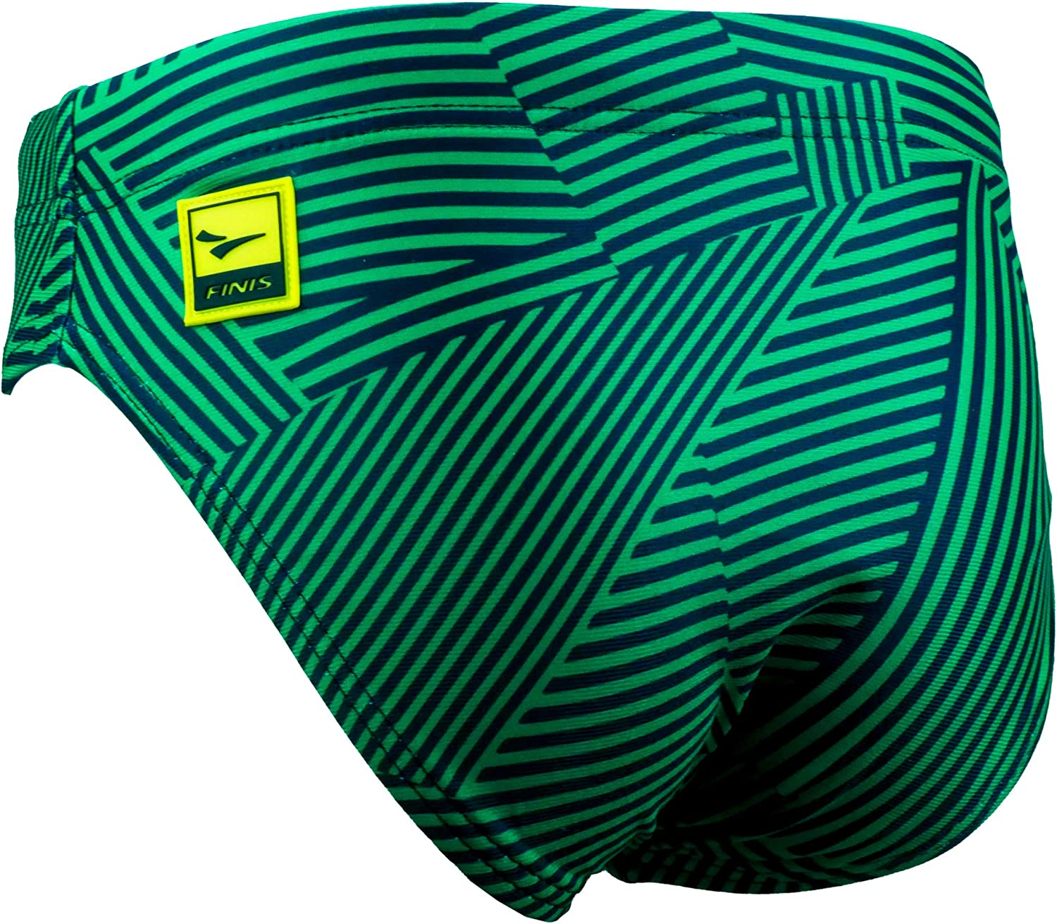 26 Green FINIS Youth Brief Maze Training and Competition Swimwear