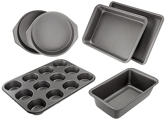 Review AmazonBasics 6-Piece Nonstick Bakeware