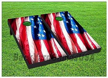 Patriotic Corn Hole Boards Bean Bag Toss Game