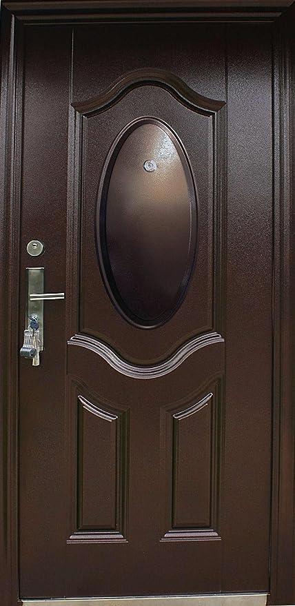 N85b Door Door Safety Steel Door Front Door Innenl Black 08