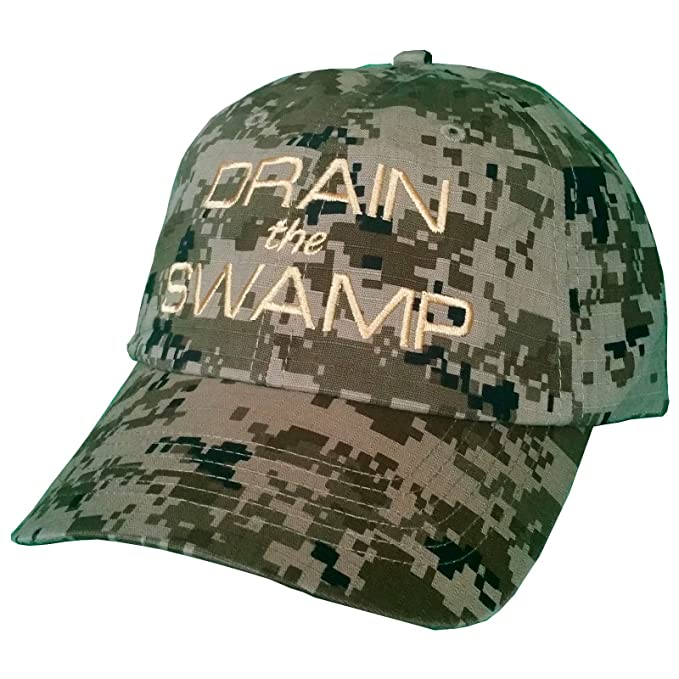 702ad3a199f5a Drain The Swamp ~ GREEN DIGITAL CAMO ~ Trump Hat ~ Make America Great Again  at Amazon Men s Clothing store
