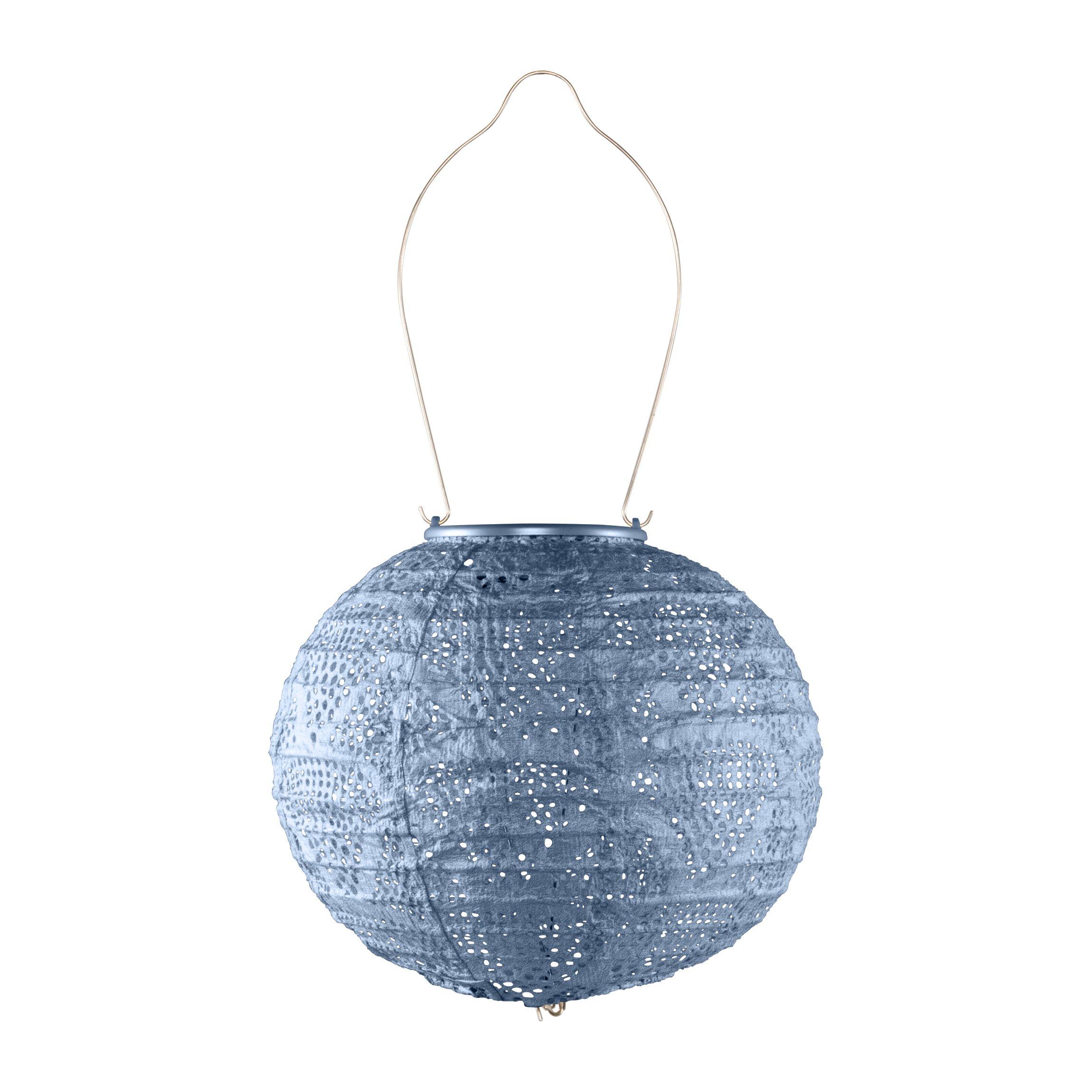 Allsop Home & Garden 32026 Outdoor Solar Lantern, 8'', Metallic Blue
