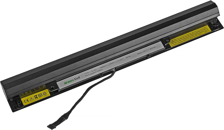 Green Cell/® Standard S/érie L15M4A01 Batterie pour Lenovo IdeaPad 100-14IBD 100-15IBD 300-14ISK 300-15ISK 300-17ISK B50-50 B71-80 Ordinateur PC Portable 4 Cellules 2200mAh 14.4V Noir