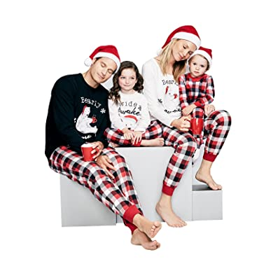 Antais Plaid Christmas Matching Family Sleepwear Pajamas Red