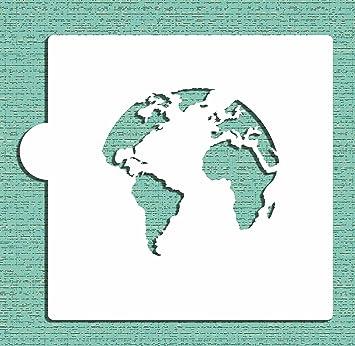 World map globe cookie stencil by designer stencils amazon world map globe cookie stencil by designer stencils gumiabroncs Images