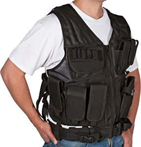 Modern Warrior Tactical Vest with Holster and Pouches
