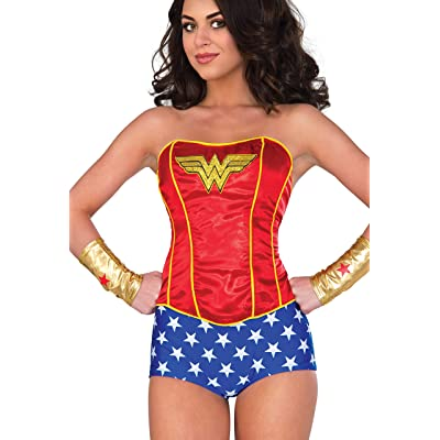 Rubies Costume Co Womens Corset, Wonder Woman, Medium/Large: Clothing