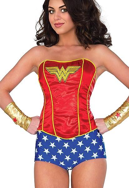 Wonder Woman Sequin Adult Womens Corset