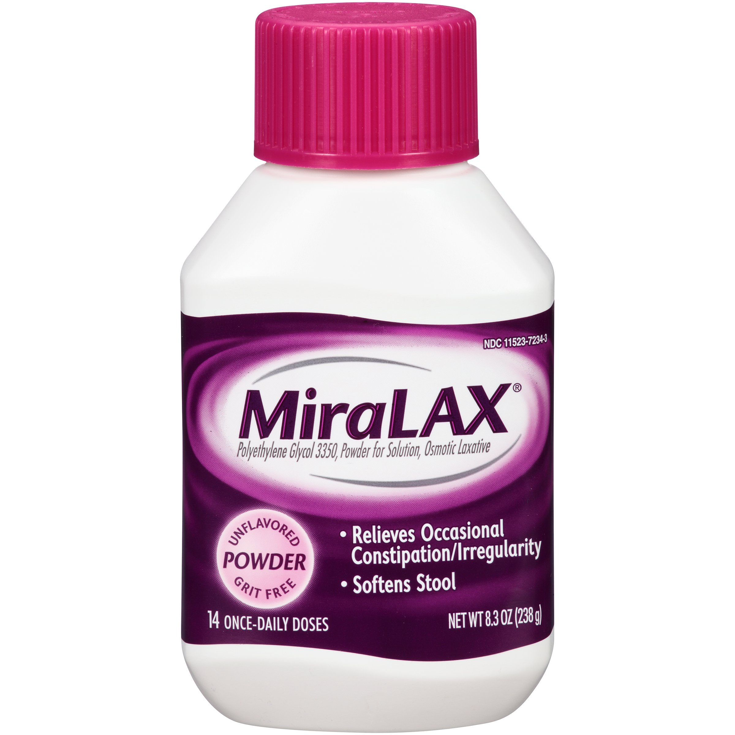 MiraLAX laxative powder, 14 doses, 8.3 Ounce (Pack of 12)
