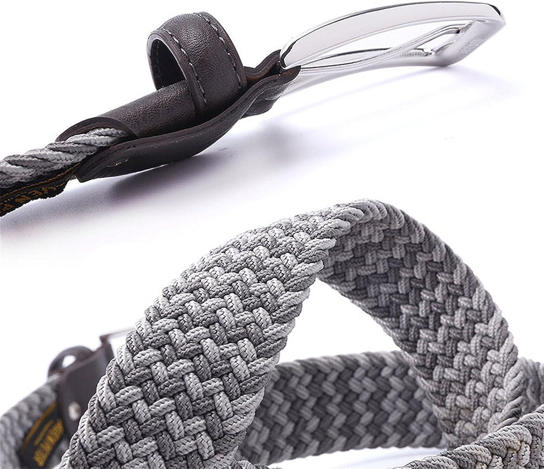 Shining4U Great Elastic Belt Men Woven Elastic Belt Braided Woven Elastic Stretch Belt With Covered Buckle1-3//8 Wide