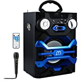 Altavoz Karaoke Portátil inalámbrico con luces LED, lector USB TF card, Radio FM LINE IN 3.5mm control remoto, PC MAC iPhone Android Smartphones